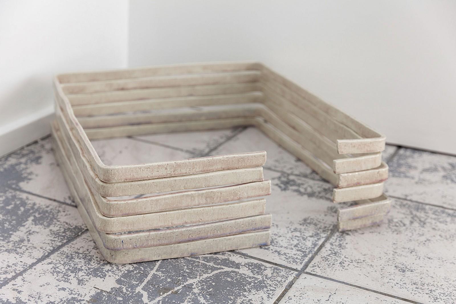 Image - Cropped frames, ceramic, 44 × 50 × 2cm