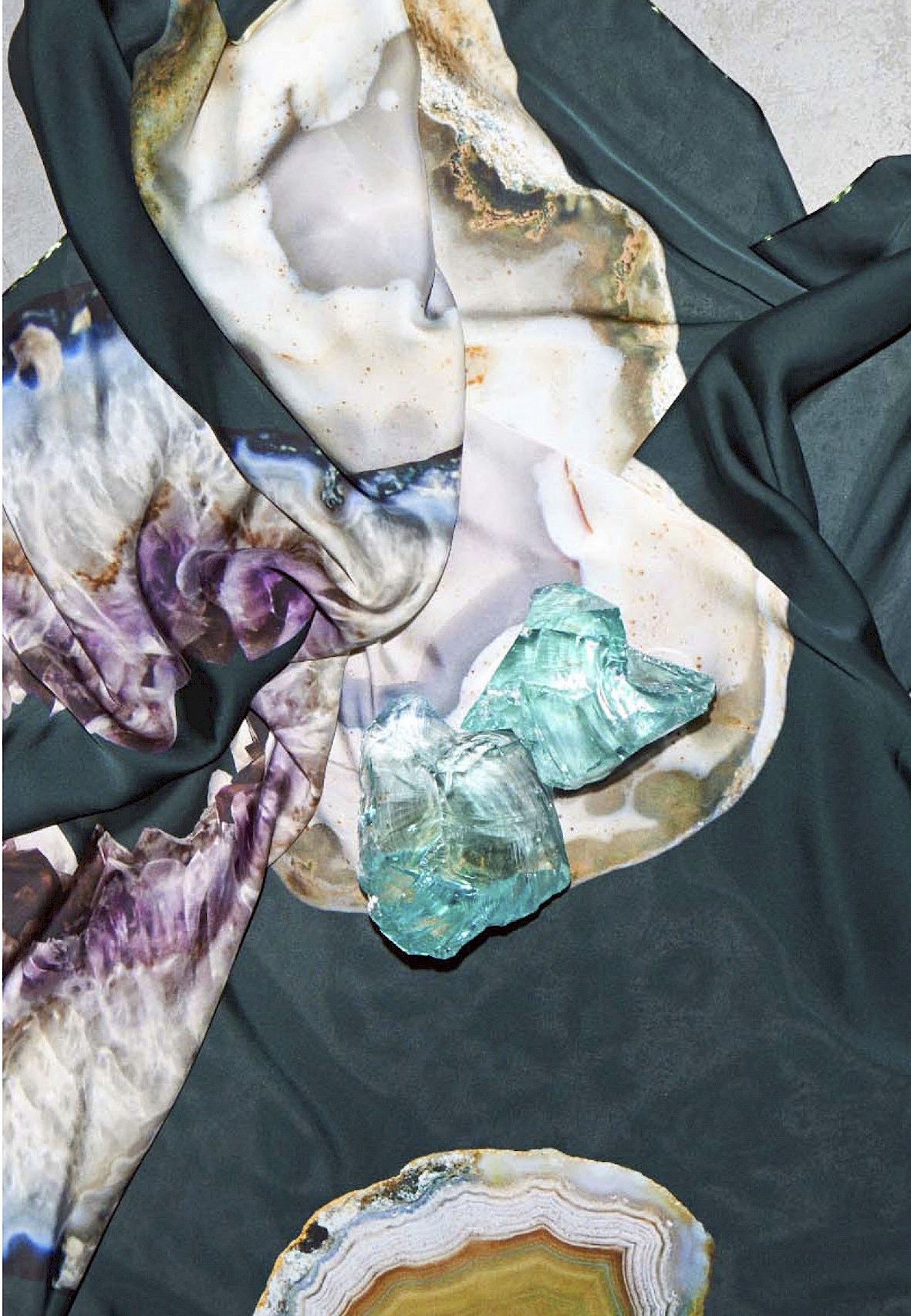 Image - Kaolinite, Digital print – 100% , twill Silk 138cm × 138cm
