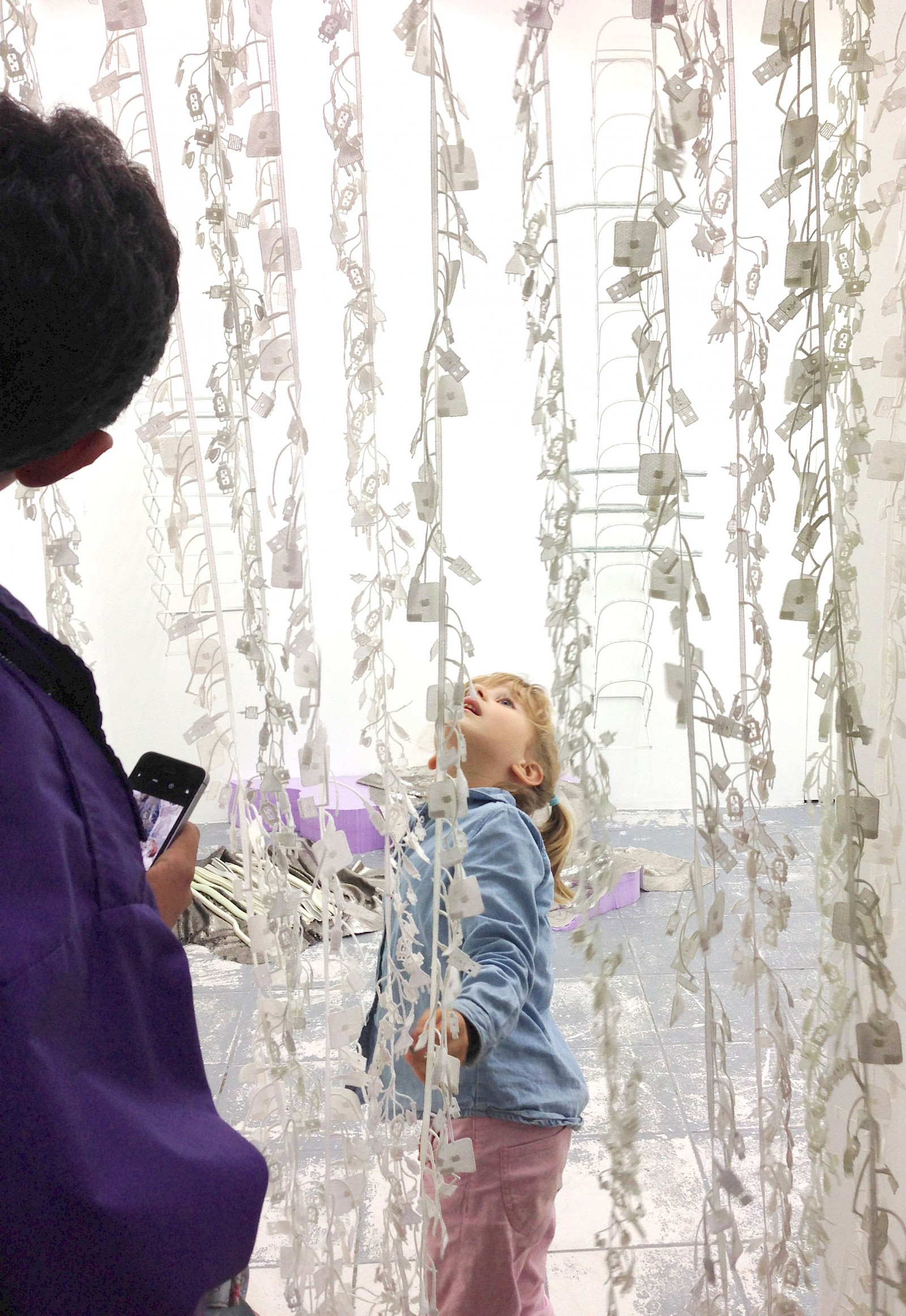 Image - Cable embroidery curtain,  75 × 170cm, dimensions variable