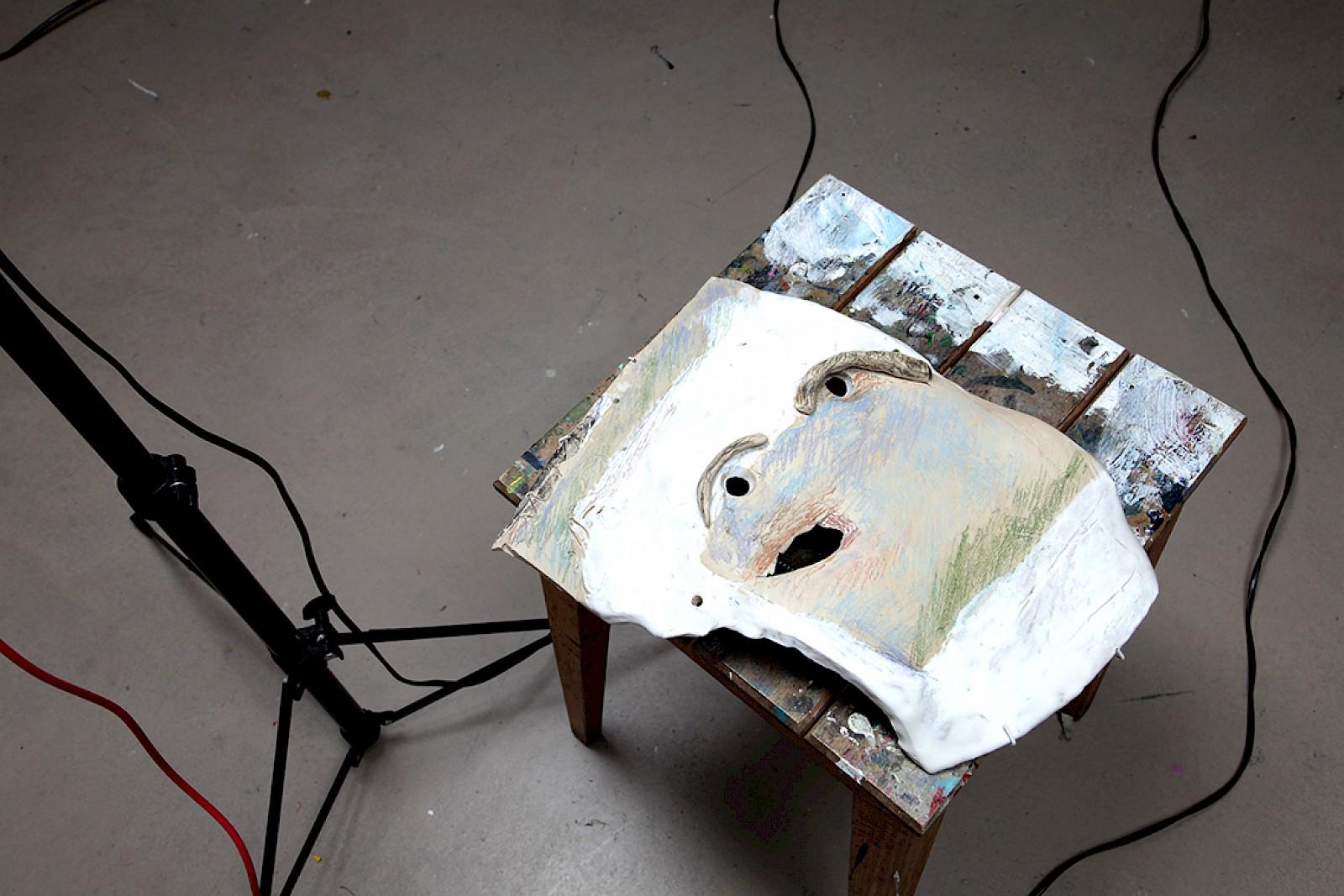 Image - Ceramic mask by Guy Vonlanthen