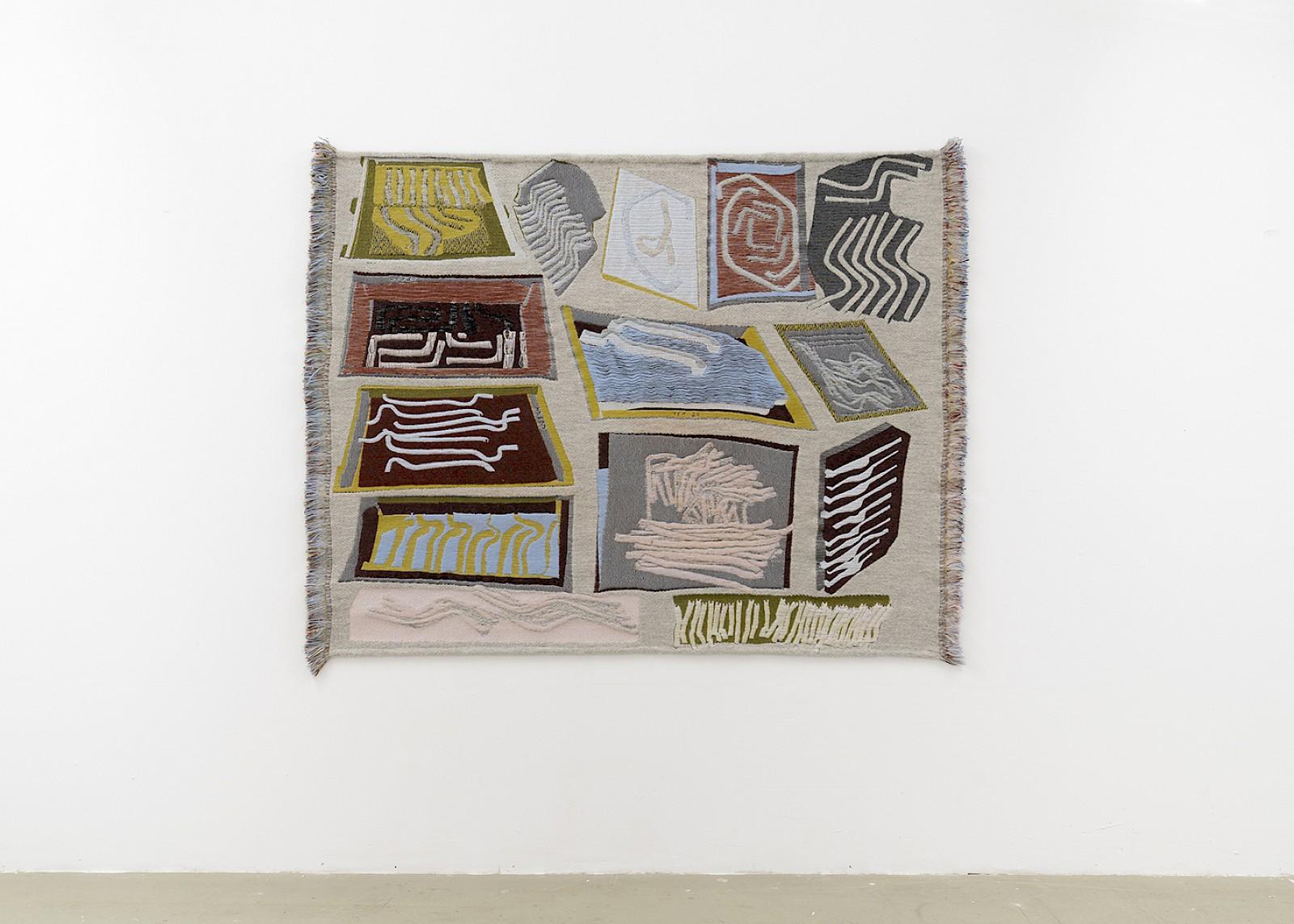 Image - Size: 137 x 175cm, Merino wool, alpaca, linen, lurex, mohair, rubber