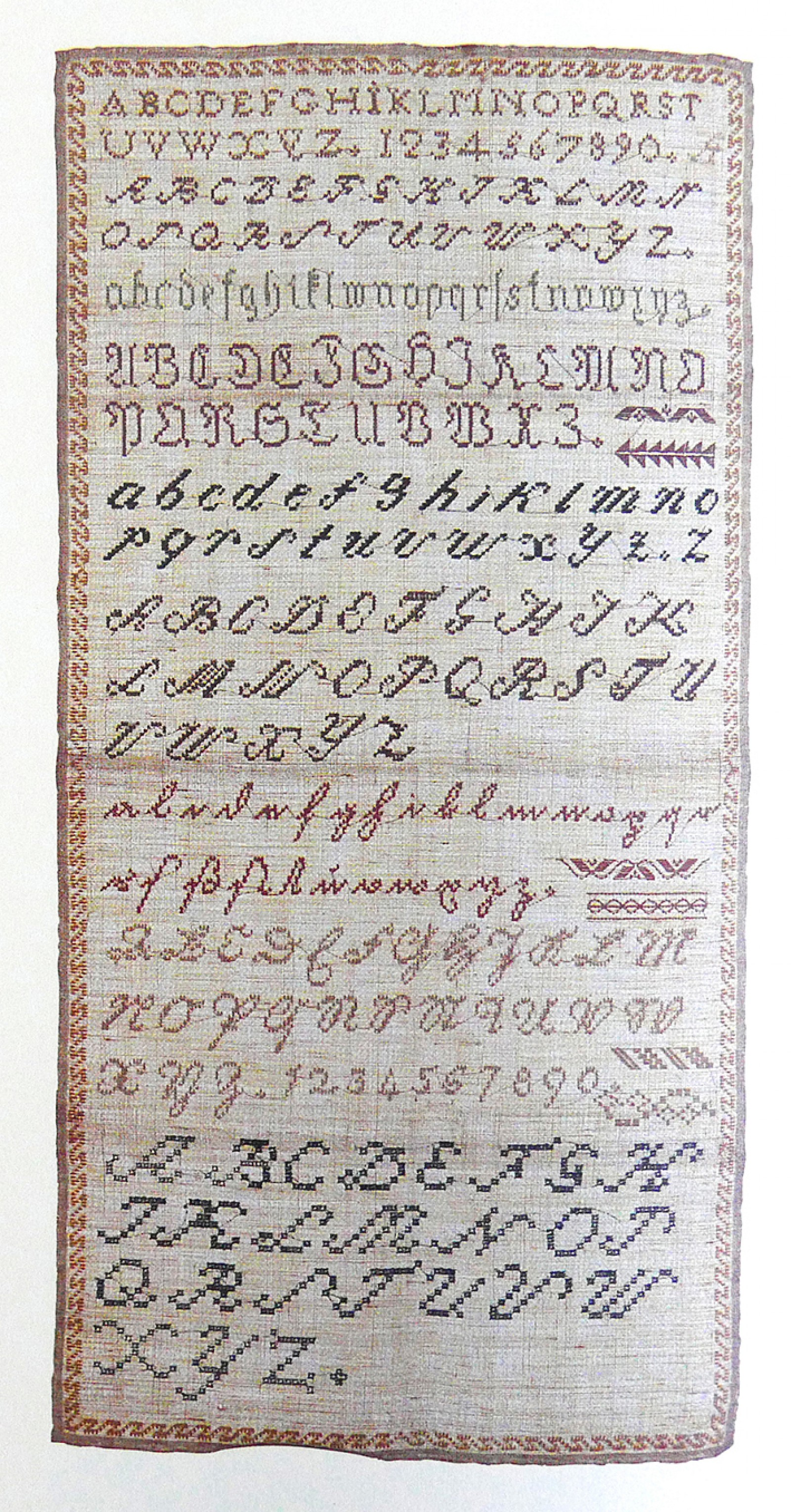 Image - Mustertuch, early 19 th century, alphabets